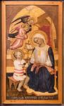 Maestro del 1399 (Giovanni di Tano Fei): Madonna mit Kind und zwei Engeln [Um 1405, Lindenau-Museum Altenburg]