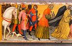 Taddeo di Bartolo: Anbetung der Heiligen Drei Könige, Detail [1404, Lindenau-Museum Altenburg]