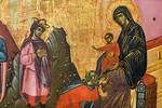 Guido da Siena: Anbetung der Heiligen Drei Könige, Detail [Um 1270-1280, Lindenau-Museum Altenburg]