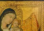 Lippo Memmi: Thronende Madonna mit Kind, Detail [Um 1320-1322, Lindenau-Museum Altenburg]