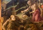 Filippo Lippi: Heiliger Hieronymus als Büßer und ein Karmelitermönch, Detail [Um 1435/1436, Lindenau-Museum Altenburg]