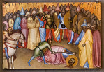 Francesco Neri da Volterra: Enthauptung eines Heiligen [Um 1360-1365, Lindenau-Museum Altenburg]