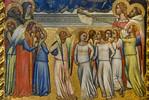 Puccio di Simone: Krönung Mariens mit Engeln und Heiligen, Detail [Um 1340-1345, Lindenau-Museum Altenburg]