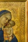 Pietro Lorenzetti: Madonna mit Kind, Detail [Um 1340-1345, Lindenau-Museum Altenburg]