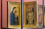 Pietro Lorenzetti: Diptychon mit Madonna mit Kind und Christus als Schmerzensmann [Um 1340-1345, Lindenau-Museum Altenburg]