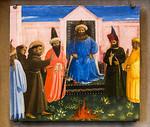 Fra Angelico: Feuerprobe des heiligen Franziskus vor dem Sultan, Detail [1429, Lindenau-Museum Altenburg]