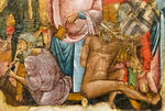 Guido da Siena: Kreuzbesteigung Christi, Detail [Um 1270-1280, Museum Catharijneconvent Utrecht]