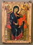 Deodato Orlandi: Thronende Madonna mit Kind und zwei Erzengeln [Um 1290-1300, Lindenau-Museum Altenburg]
