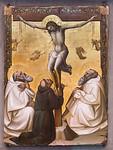 Lorenzo Monaco: Christus am Kreuz mit den Heiligen Benedikt, Franziskus und Romuald [Um 1405-1407, Lindenau-Museum Altenburg]