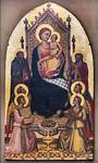 Niccolo di Pietro Gerini, Werkstatt: Thronende Madonna mit Engeln und Heiligen [Um 1390-1395, Lindenau-Museum Altenburg]