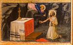 Masaccio: heiliger Hieronymus als Büßer [Um 1424/1425, Lindenau-Museum Altenburg]