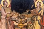 Niccolo di Pietro Gerini, Werkstatt: Thronende Madonna mit Engeln und Heiligen, Detail [Um 1390-1395, Lindenau-Museum Altenburg]
