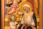 Maestro del 1399 (Giovanni di Tano Fei): Madonna mit Kind und zwei Engeln, Detail [Um 1405, Lindenau-Museum Altenburg]
