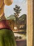 Sandro Botticelli: Bildnis einer Dame (Caterina Sforza?), Detail [Um 1475, Lindenau-Museum Altenburg]