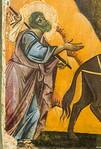 Giudo da Siena: Flucht nach Ägypten, Detail [Um 1270-1280, Lindenau-Museum Altenburg]