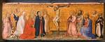 Bartolo di Fredi: Christus am Kreuz, von Heiligen angebetet [Um 1375-1385, Lindenau-Museum Altenburg]
