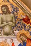 Matteo di Pacino: Christus als Schmerzensmann, Detail [Um 1360, Lindenau-Museum Altenburg]