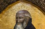 Pietro Nelli: Hl. Antonius Abbas, Detail [Um 1360-1365, Lindenau-Museum Altenburg]