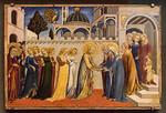 Sano di Pietro: Heimkehr Mariens aus dem Tempel [Um 1448-1452, Lindenau-Museum Altenburg]