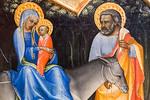 Lorenzo Monaco: Flucht nach Ägypten, Detail [Um 1405-1410, Lindenau-Museum Altenburg]