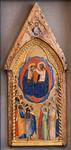Maestro di San Lucchese: Krönung Mariens mit Engeln und Heiligen [Um 1365-1370, Lindenau-Museum Altenburg]