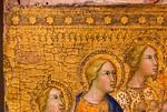 Bartolo di Fredi: Christus am Kreuz, von Heiligen angebetet, Detail [Um 1375-1385, Lindenau-Museum Altenburg]