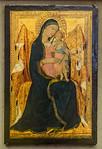 Lippo Memmi: Thronende Madonna mit Kind [Um 1320-1322, Lindenau-Museum Altenburg]