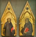 Werkstatt des Barna da Siena(?): Heilige in Mönchskutte [Um 1330(?), Lindenau-Museum, Altenburg]