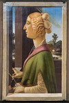 Sandro Botticelli: Bildnis einer Dame (Caterina Sforza?) [Um 1475, Lindenau-Museum Altenburg]