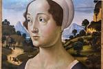 Domenico del Ghirlandaio: Bildnis einer Frau vor Landschaft, Detail [Um 1480-1485, Lindenau-Museum Altenburg]