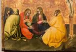 Giovanni di Paolo: Kreuzigung Christi, Detail [Um 1430-1435, Lindenau-Museum Altenburg]