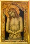 Pietro Lorenzetti: Christus als Schmerzensmann [Um 1340-1345, Lindenau-Museum Altenburg]
