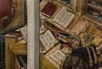 """..., während andere schon Leserbriefe schreiben (""""Der hl.Hieronymus erscheint dem hl. Augustinus"""", Giovanni di Paolo, um 1465, noch in der Gemäldegalerie)"""
