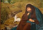 """In Ruhe werden Gegenmaßnahmen bedacht (""""Johannes der Täufer in der Einöde"""", Geertgen tot Sint Jans, um 1480, noch in der Gemäldegalerie)"""