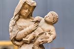 Burgund: Muttergottes mit Papagei, Detail (1440) [aus Bode-Museum Berlin]