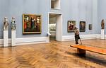 Brabanter Frauen, niederl. Maria in Raum V (G. van der Weyden, Fouquet, Malwel, Memling) [Gemäldegalerie Berlin]