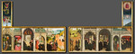 Simon Marmion: Fotomontage der Festtagsseite mit Londoner Aufsätzen [1459, Gemäldegalerie Berlin, National Gallery London]