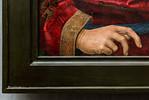 Hugo van der Goes: Anbetung der Hirten, Detail des neuen Rahmens [Gemäldegalerie Berlin]