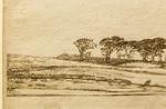 Willem Buytewech: Landschaft mit Baumreihe, Detail [um 1617-1622, Feder, Kupferstichkabinett Berlin