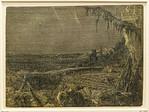 Hercules Seghers: Die Landschaft mit dem Fichtenzweig 3 [um 1620/30, Kupferstichkabinett Berlin]