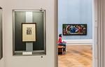 Blick aus der Ausstellung auf Hugo van der Goes: Anbetung der Hirten