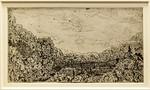 Hercules Seghers: Das eingeschlossene Tal [um 1620, Kupferstichkabinett Berlin]