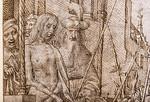Meister des Todes von Absalom: Christus wird dem Volk gezeigt, Detail [Um 1500, Kupferstichkabinett Berlin]