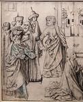 Meister der Tiburtinischen Sibylle (Nachfolger): Auferweckung des Lazarus, Detail [um 1480, Kupferstichkabinett Berlin]
