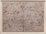 Hieronymus Bosch (oder Werkstatt): Schlacht der Vögel gegen die Säugetiere [Um 1500-1510, Kupferstichkabinett Berlin]