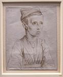 Meister der Ursulalegende (zugeschr.): Porträt eines Mädchens in Halbfigur [vor 1480, Kupferstichkabinett Berlin]