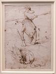 Hieronymus Bosch: Zwei Phantasiegeschöpfe 2 [Um 1500, Kupferstichkabinett Berlin]