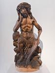 Peter Breuer: Christus in der Rast; Anfang 16. Jhdt.; Lindenholz, ehem. gefasst; wohl aus Zwickau; Schlossbergmuseum Chemnitz