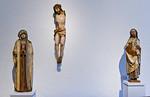 (1) Meister H.W.: Schmerzensmutter; um 1501-1503; (2) Umkreis Meister H.W.: Torso eines Kruzifixes mit schwenkbaren Armen; um 1500; (3) Umkreis Meister H.W.: Auferstandener Christus, alle La ...