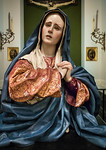 Pedro da Mena: Trauernde Maria [1628-1688, Academia de Bellas Artes, Madrid]